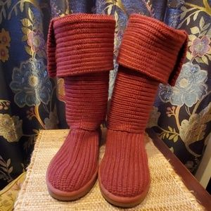 UGG Classic Cardy knit boots-wear up or down sz 7